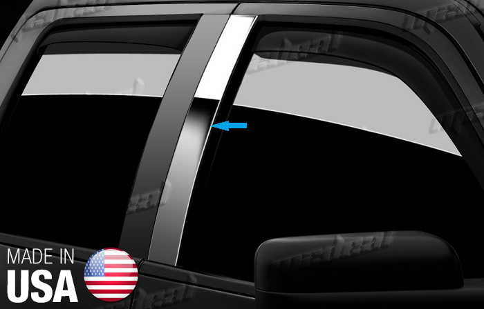 TYGER For 15-18 Chevy Colorado Extended Cab 2PC Stainless Steel Pillar Post Trim
