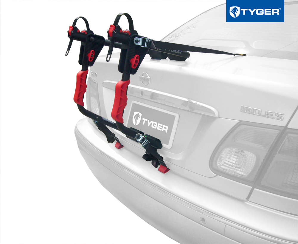 Tyger Deluxe 1 Bike Trunk Mount Black Carrier Rack For